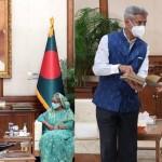 India's External Affairs Minister Dr. S. Jaishankar meets Bangladesh PM Sheikh Hasina