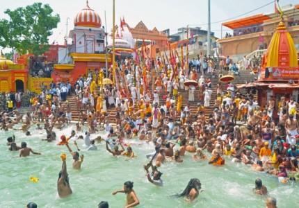 Saints take a holy dip on the third 'Shahi Snan' of Kumbh Mela