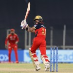 Virat Kohli Captain of Royal Challengers Bangalore plays a shot